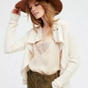 Free People Cascade Cardigan Sweater Top Size S